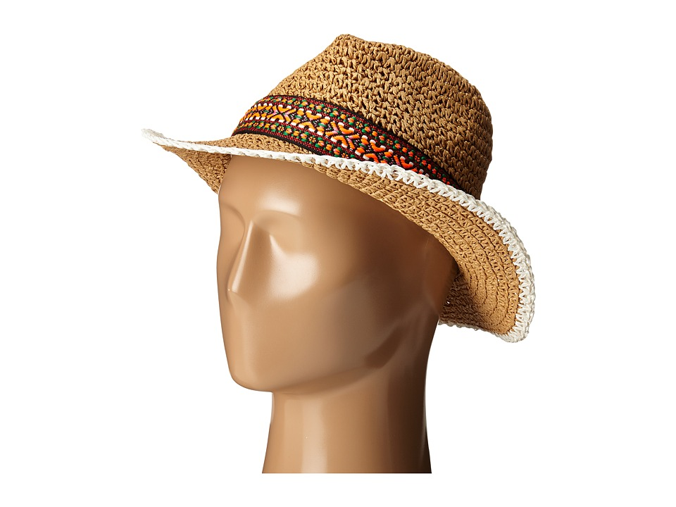 Echo Design - Crocheted Straw Hat (Light Straw) Caps