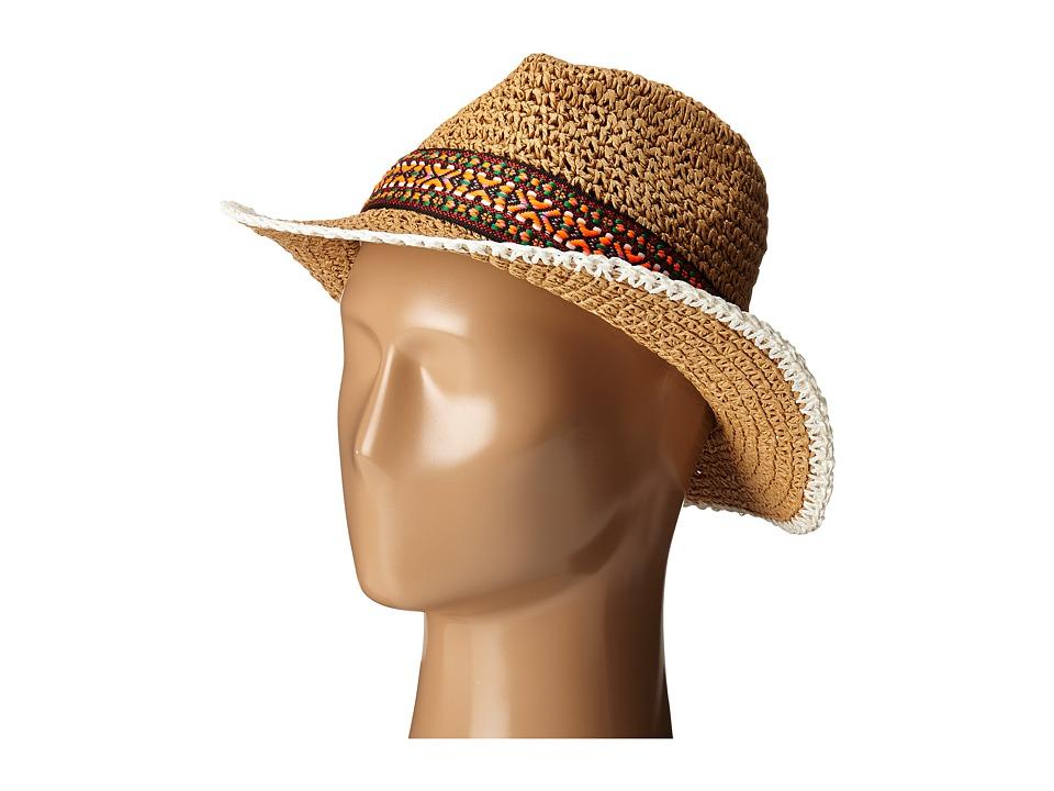 Echo Design - Crocheted Straw Hat (Light Straw) Caps
