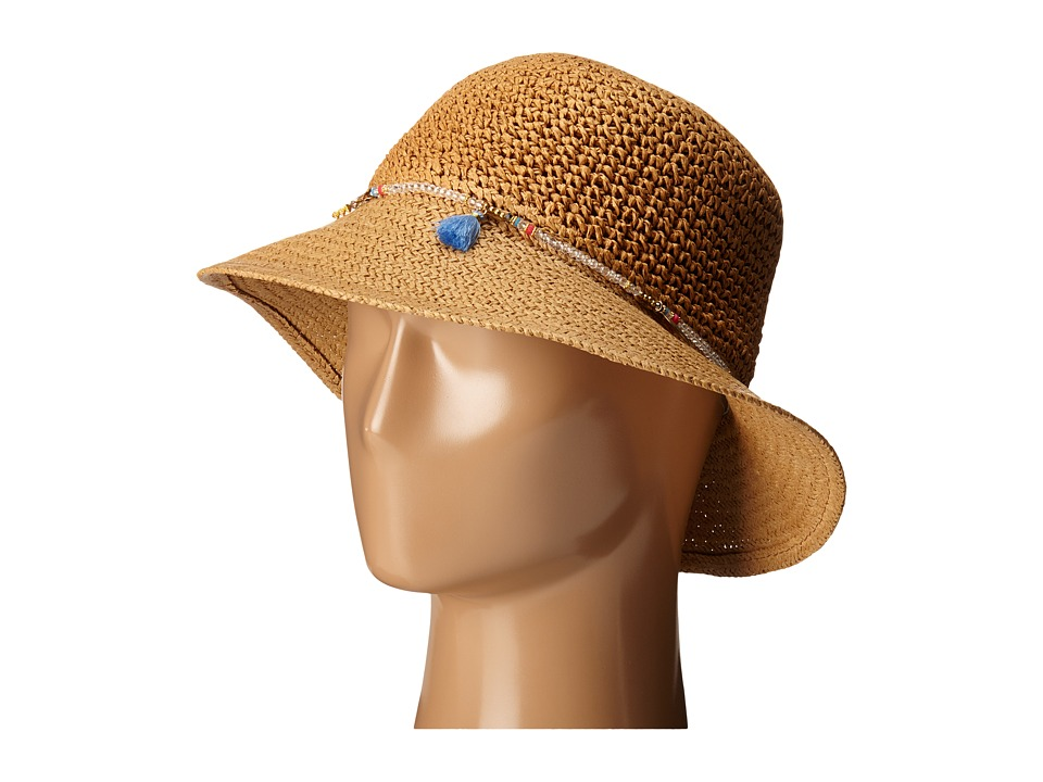 Echo Design - Lagoon Mid Brim Hat (Light Straw) Bucket Caps