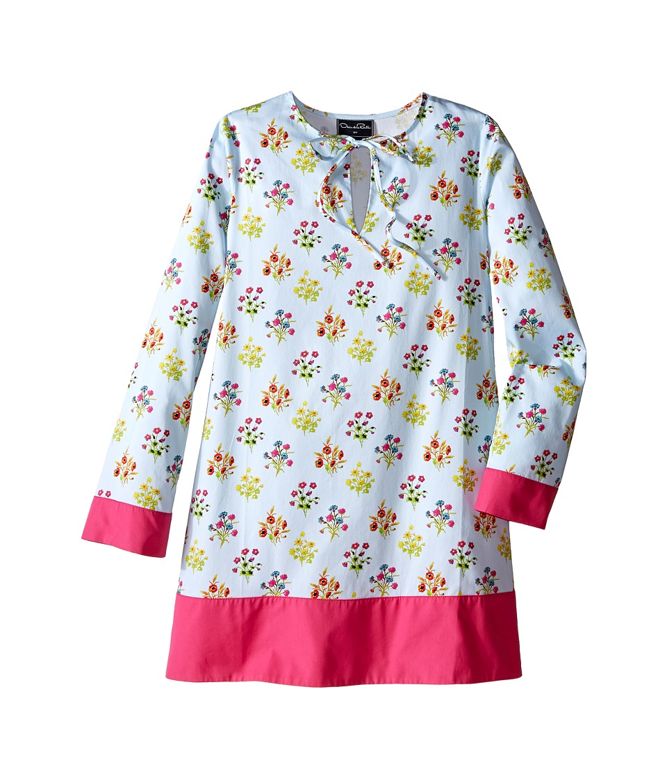 Oscar de la Renta Childrenswear - Floral Caftan (Toddler/Little Kids/Big Kids) (Sky) Girl's Swimwear