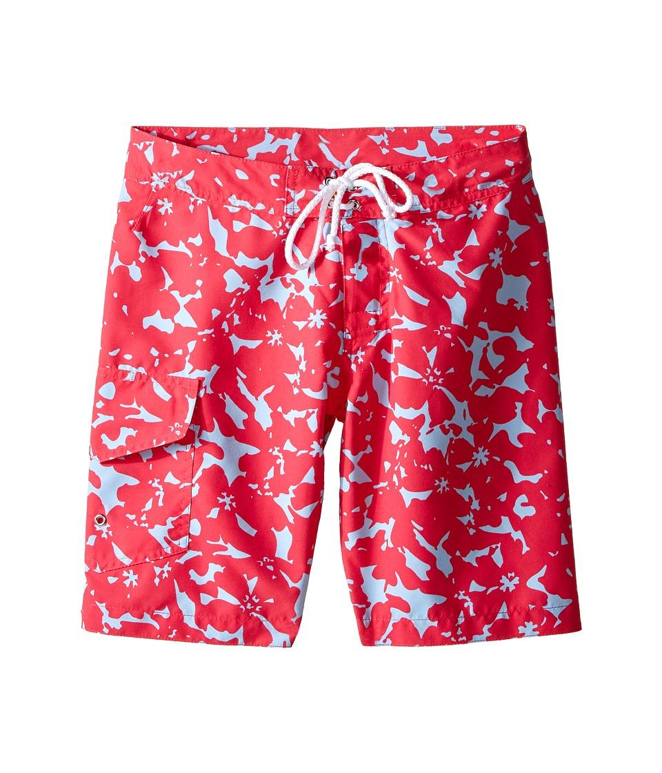 Oscar de la Renta Childrenswear Abstract Floral Surfer Boardshorts (Toddler/Little Kids/Big Kids) (Ruby) Boy