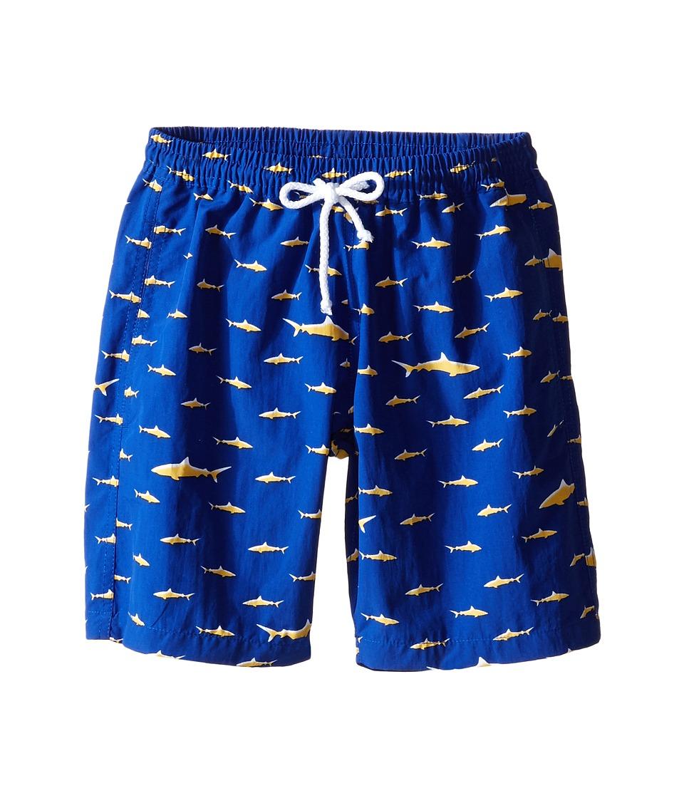 Oscar de la Renta Childrenswear - Shark Classic Swim Shorts (Toddler/Little Kids/Big Kids) (Navy) Boy's Swimwear