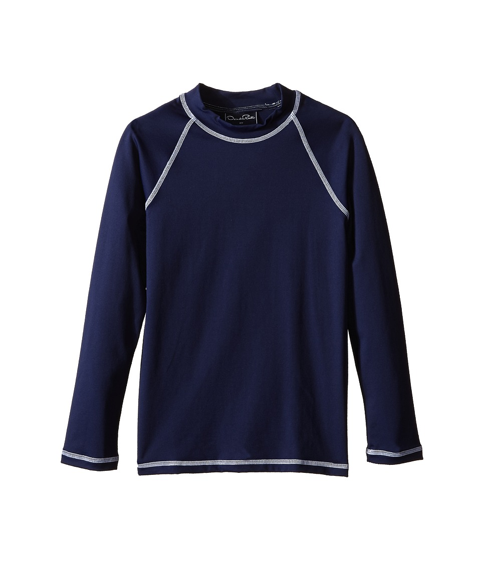Oscar de la Renta Childrenswear - Lycra Rashguard (Toddler/Little Kids/Big Kids) (Navy) Boy's Swimwear