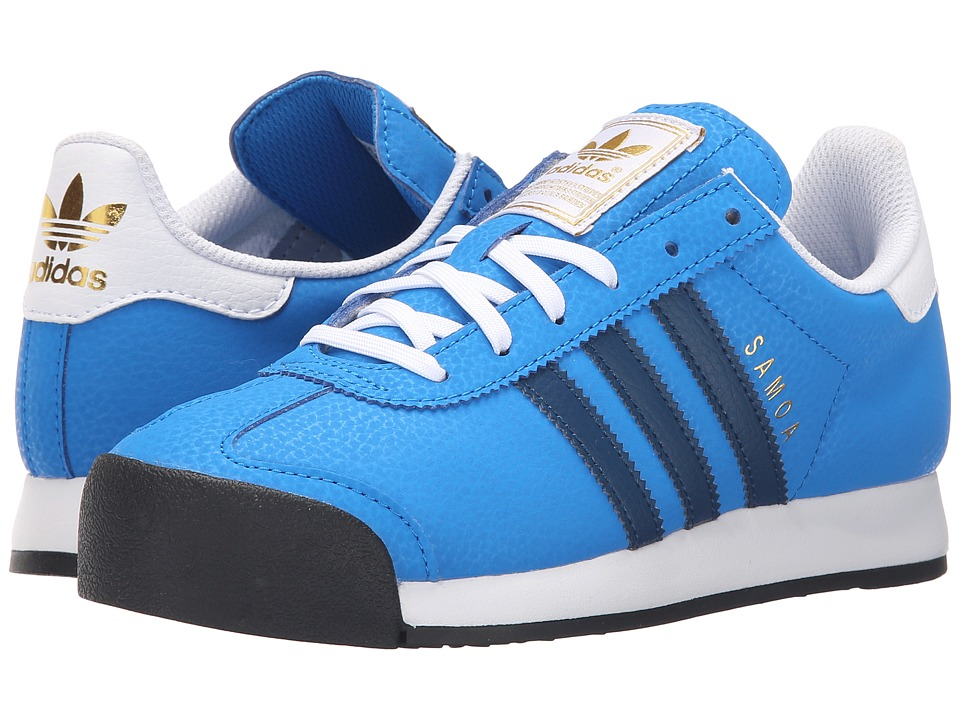 adidas Originals Kids Samoa J (Big Kid) (Shock Blue/Shadow Blue/Gold Metallic) Kids Shoes