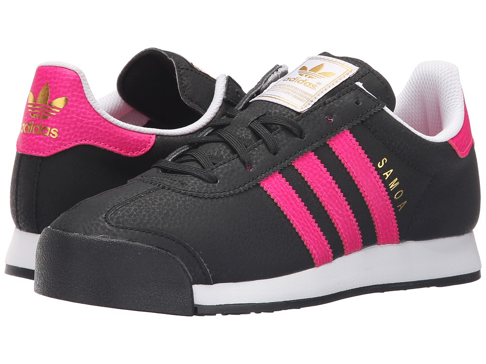adidas Originals Kids - Samoa J (Big Kid) (Black/Shock Pink/Gold Metallic) Girls Shoes