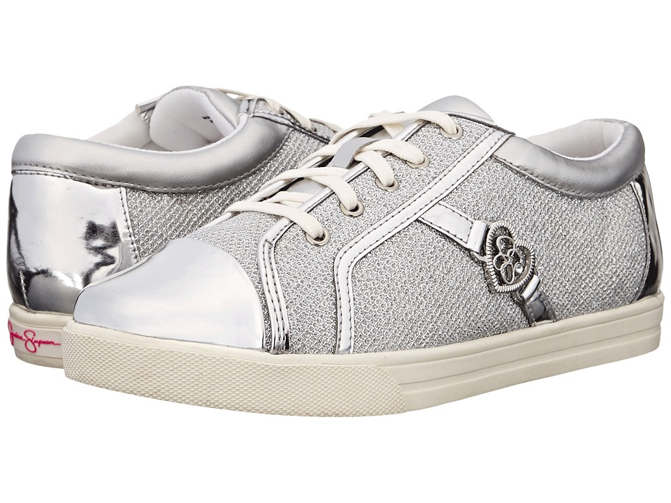 Jessica Simpson Kids Aurora (Little Kid/Big Kid) (Silver Lurex) Girl