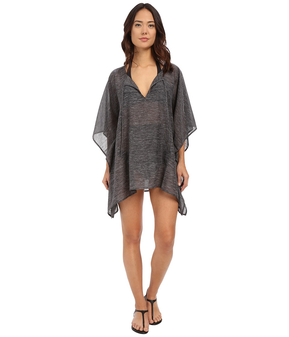 Echo Design - Solid Kangaroo Poncho Cover-Up (Black) Women's Swimwear