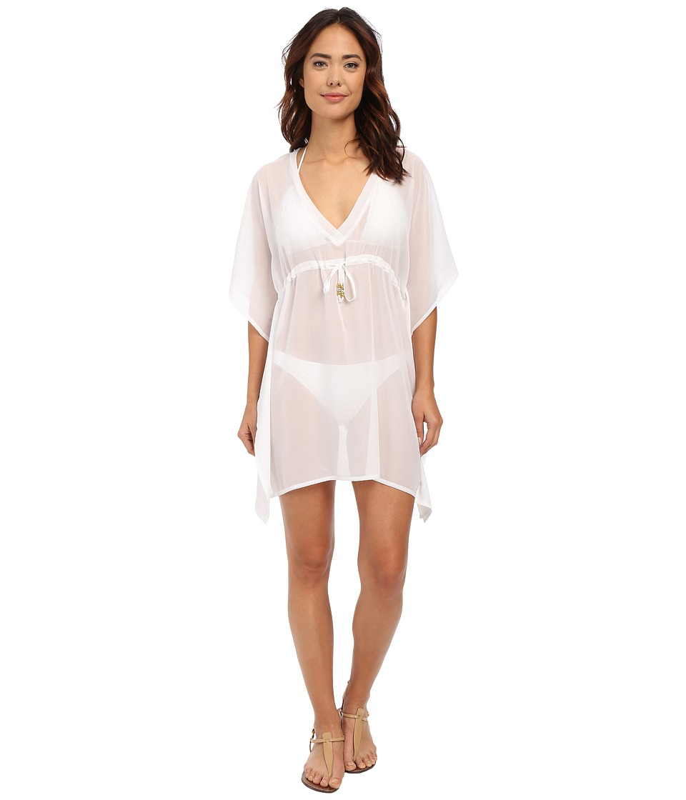 Echo Design - Solid Silky Butterfly Cover-Up (White) Women's Swimwear
