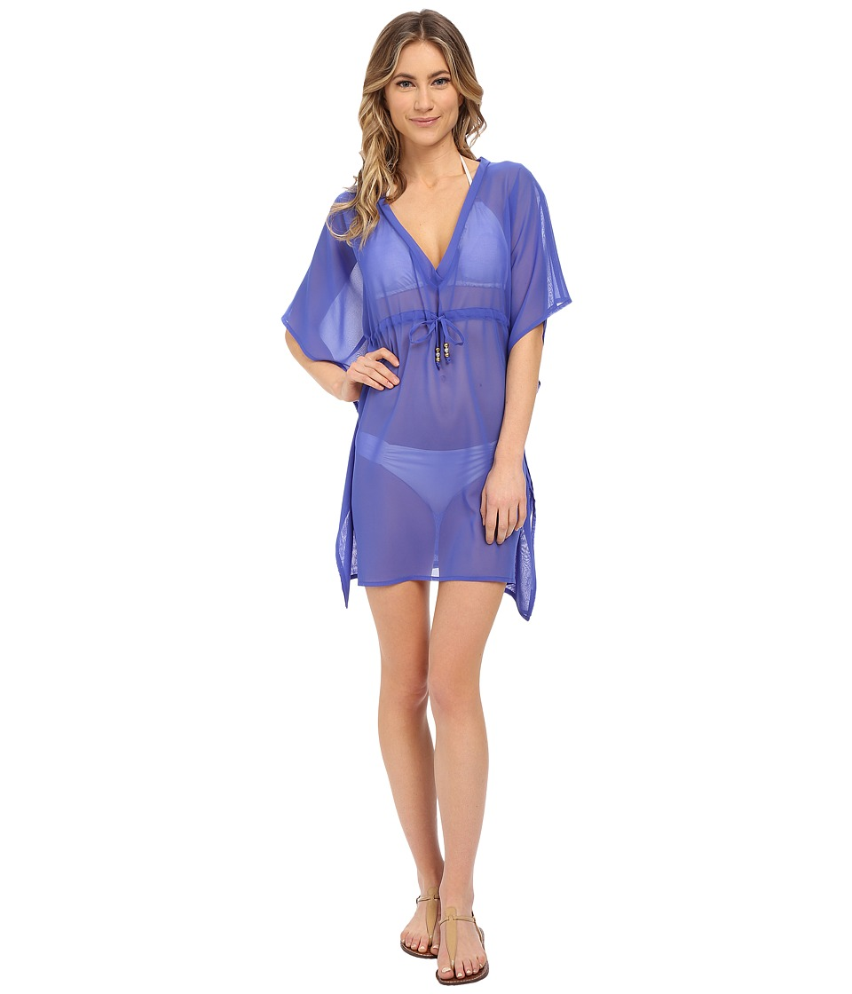 Echo Design - Solid Silky Butterfly Cover-Up (Dazzling Blue) Women's Swimwear