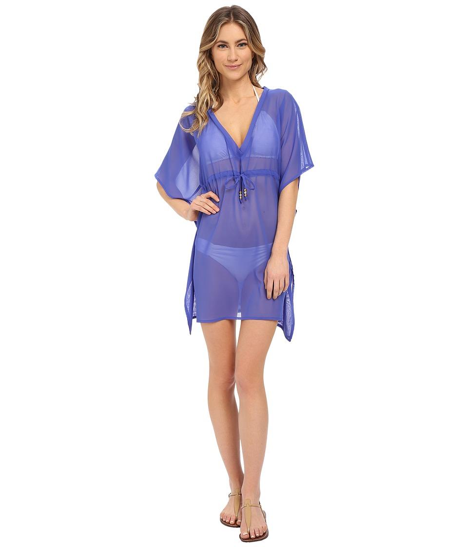 Echo Design - Solid Silky Butterfly Cover-Up (Dazzling Blue) Women's Swimwear