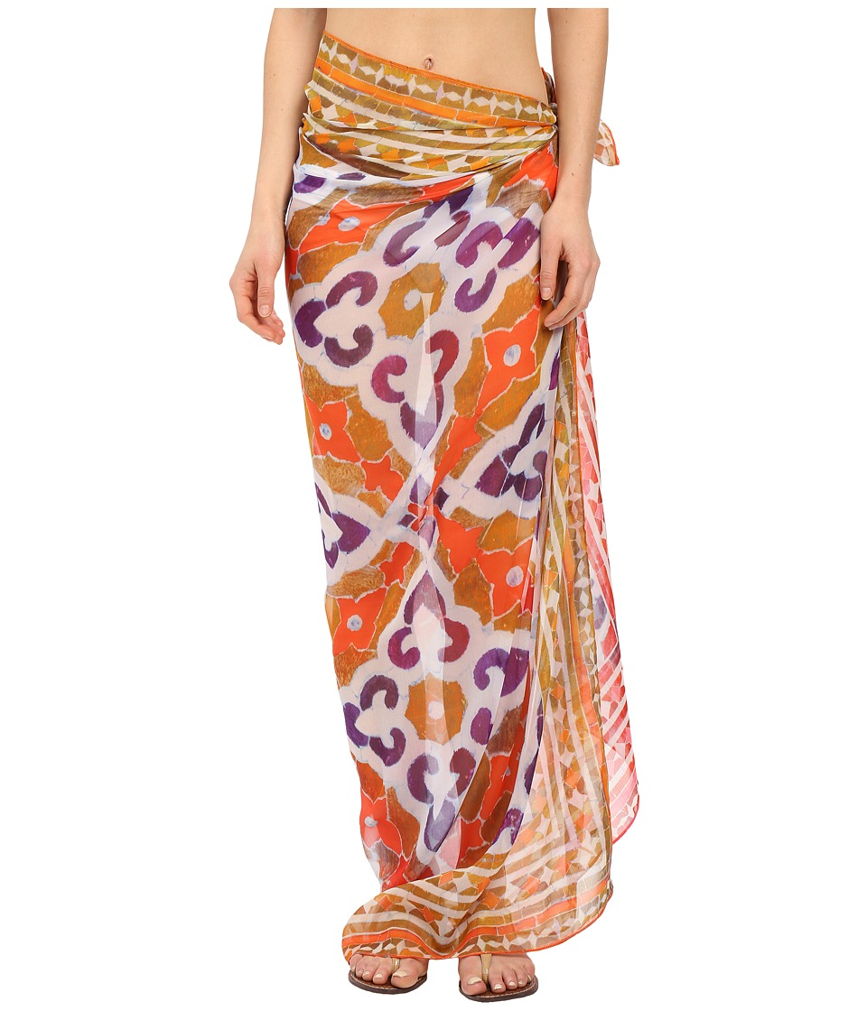 Echo Design - Marble Mosaic Square Pareo (Caribbean Sunset) Scarves