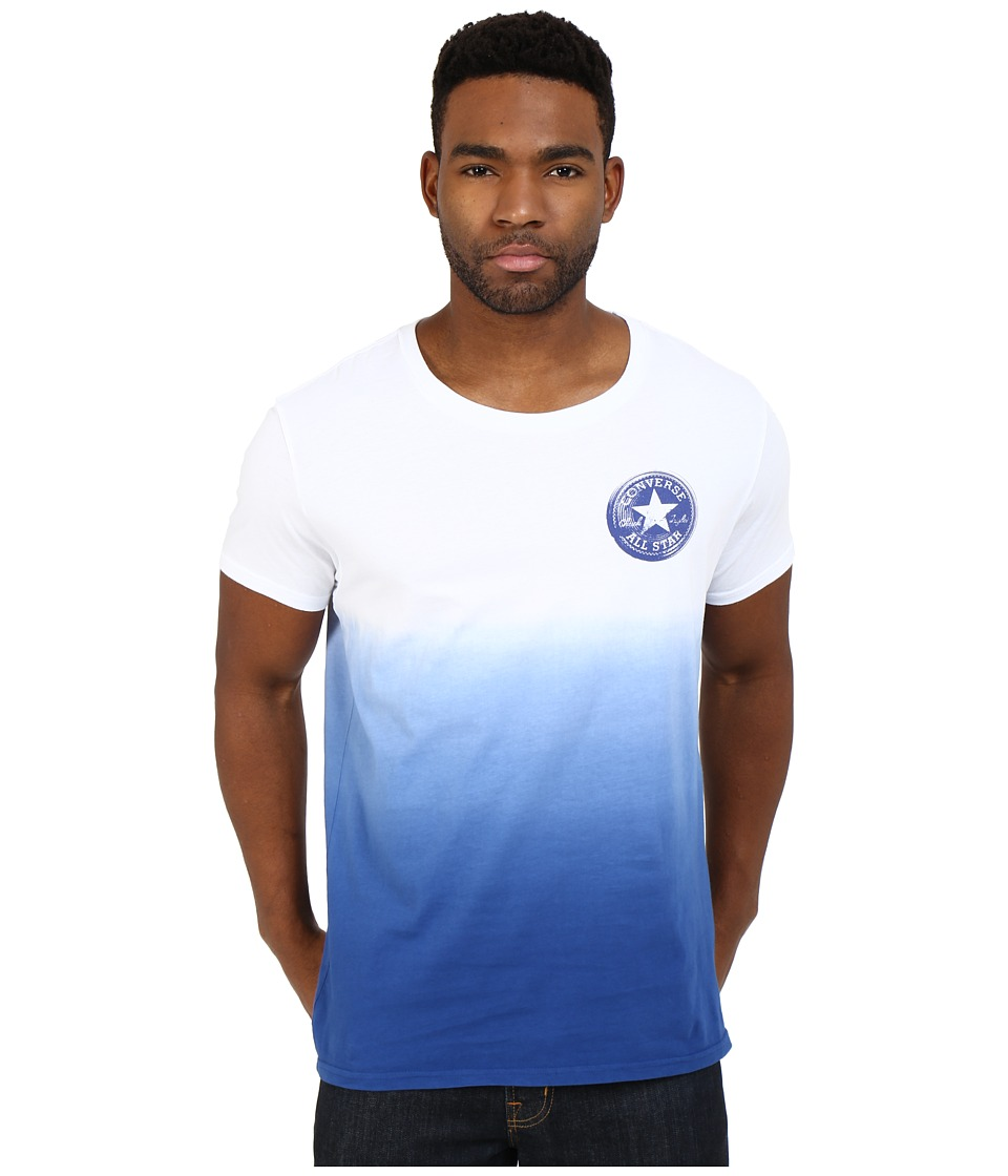Converse - Ombre Icon Open Neck Tee (White) Men's T Shirt