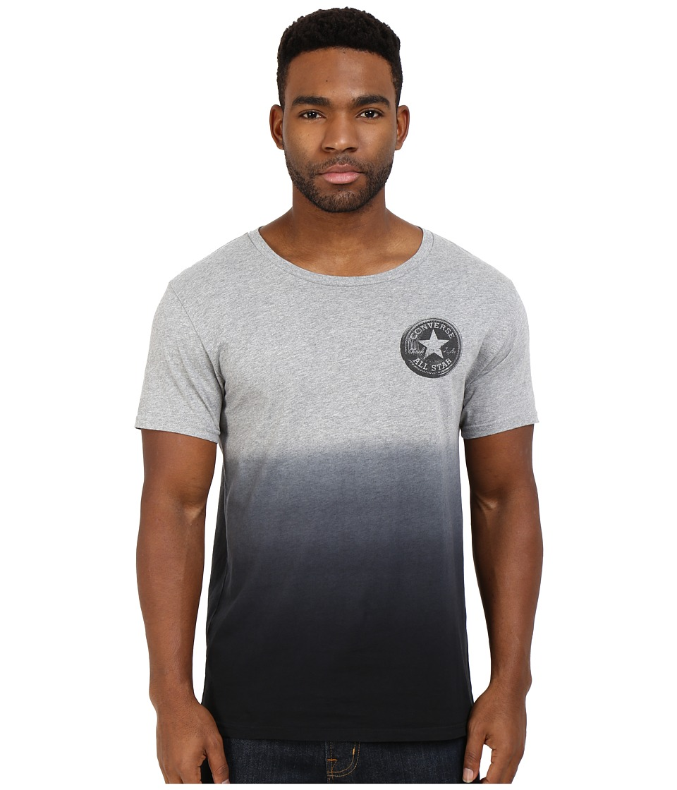 Converse - Ombre Icon Open Neck Tee (Vintage Grey Heather) Men's T Shirt