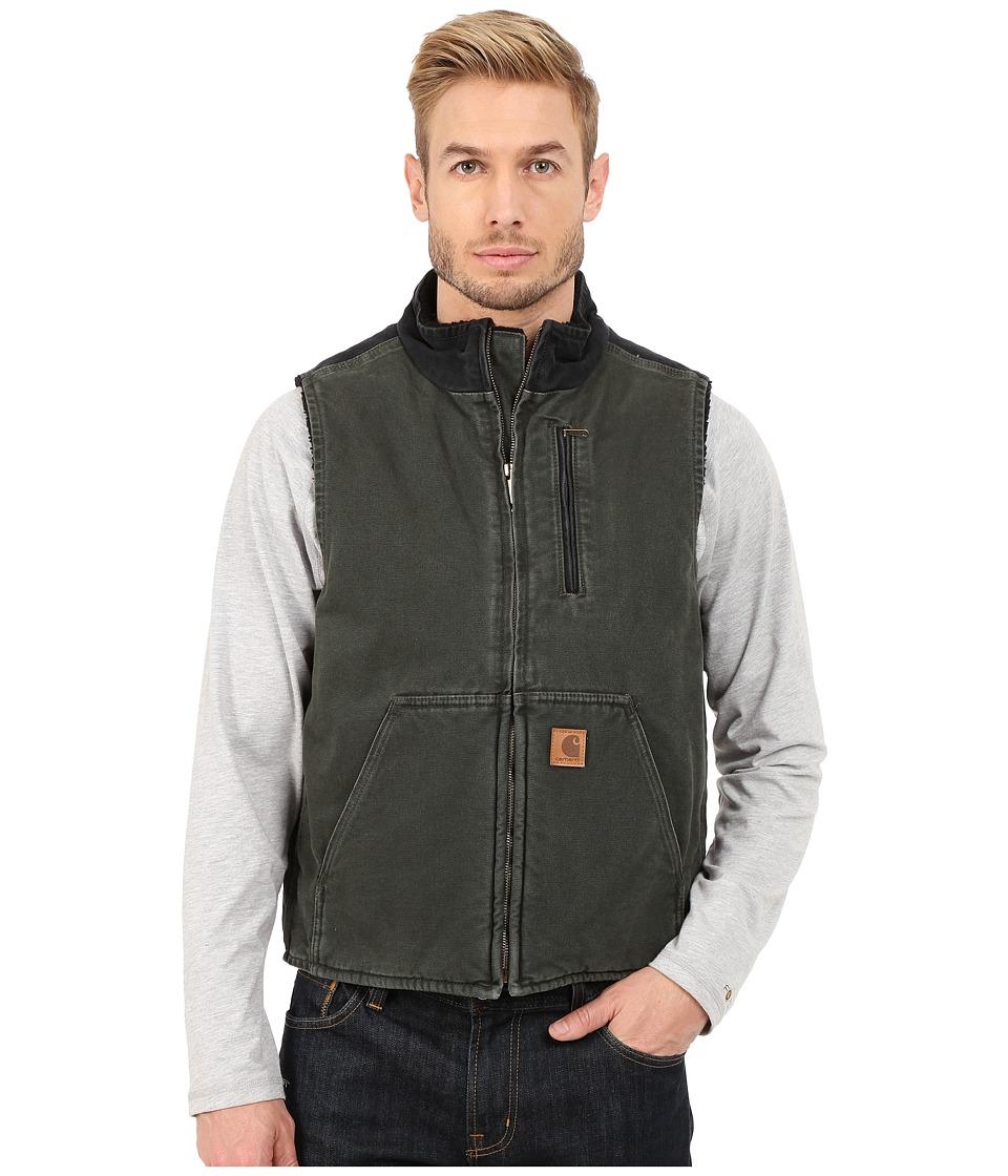 Carhartt - Mock Neck Vest Sherpa Lined Sandstone (Moss/Black) Men's Vest