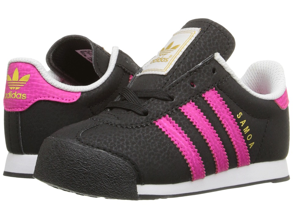 adidas Originals Kids - Samoa I (Toddler) (Black/Shock Pink/Gold Metallic) Girls Shoes