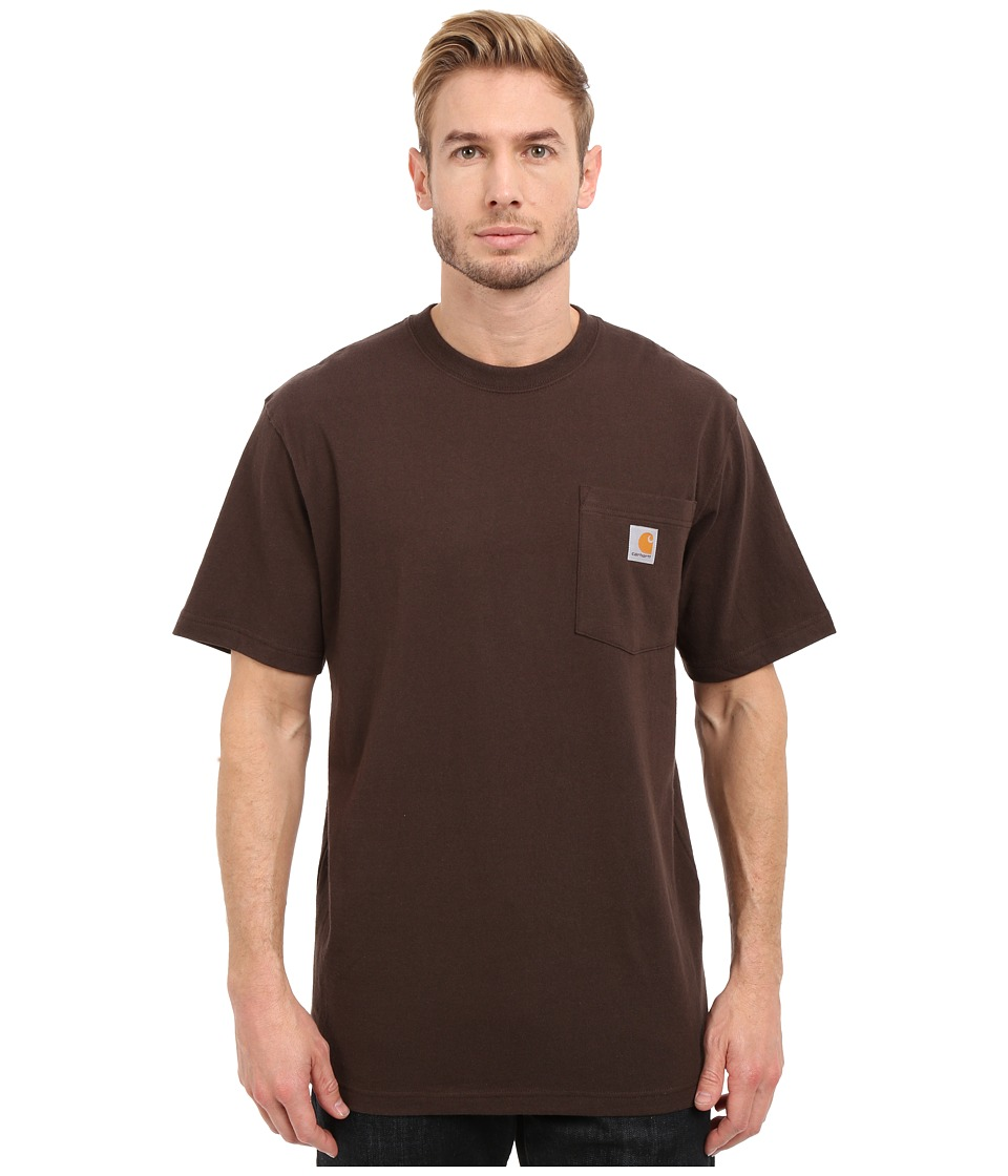 Carhartt - Workwear Graphic Branded C Short Sleeve T-Shirt (Dark Brown) Men's Short Sleeve Pullover