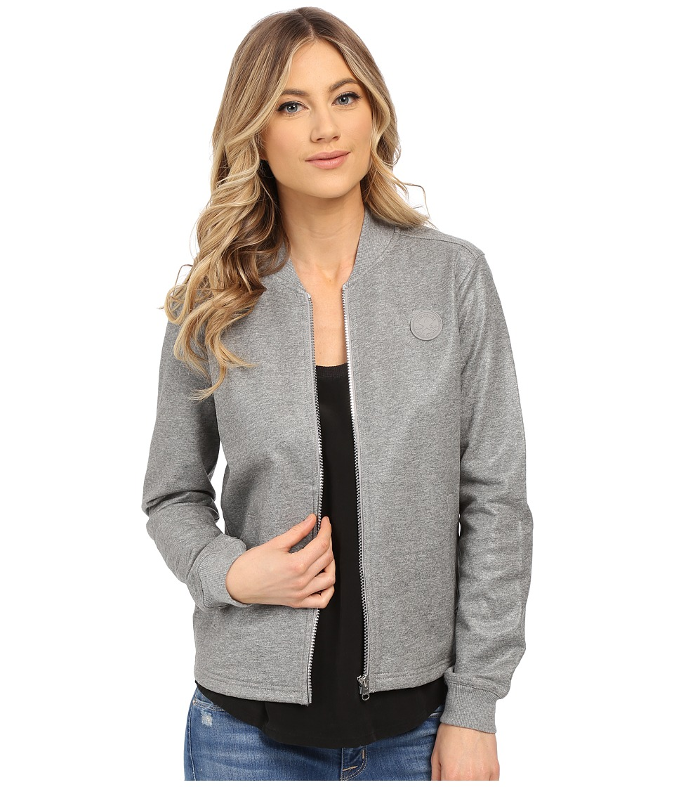 Converse - Coated Bomber Jacket (Vintage Grey Heather) Women's Coat