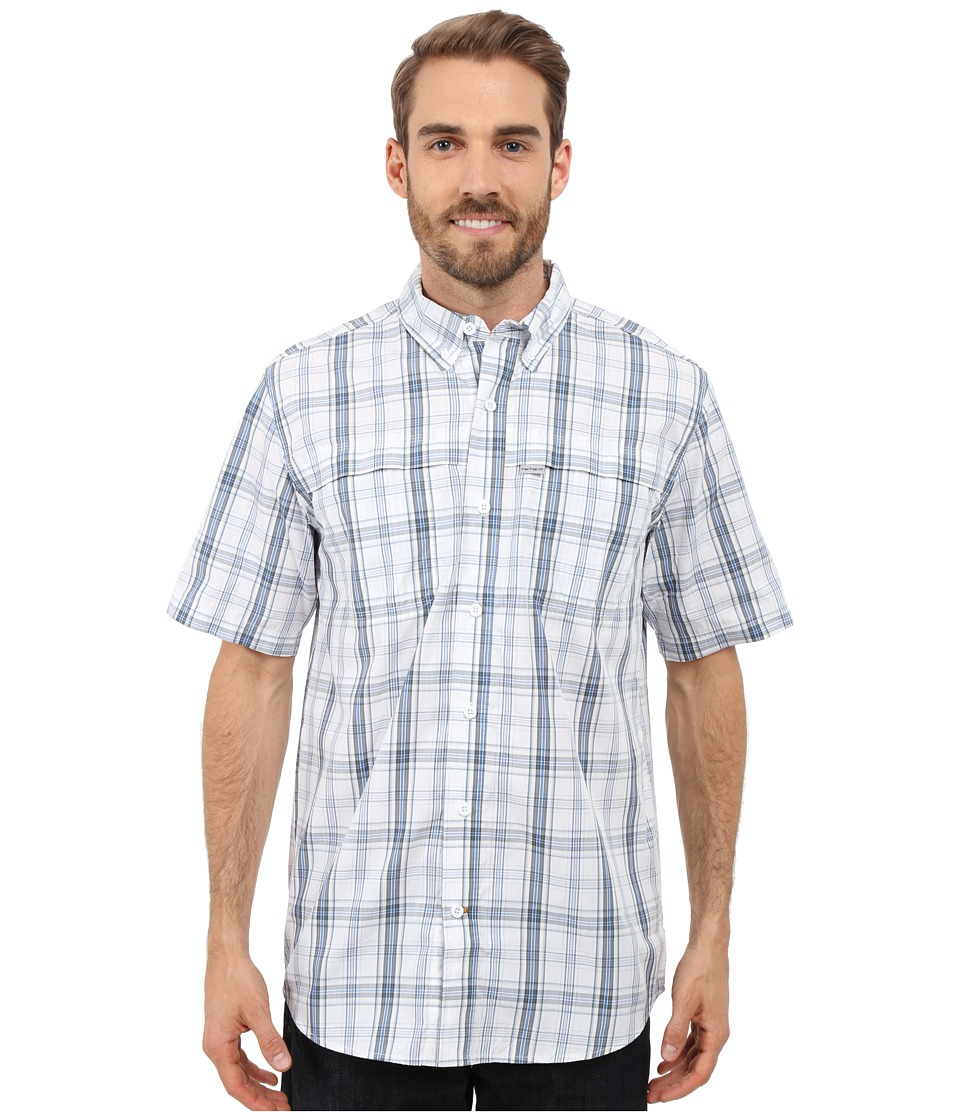Carhartt - Force Mandan Button Down Short Sleeve Shirt (Cool Blue) Men's Clothing