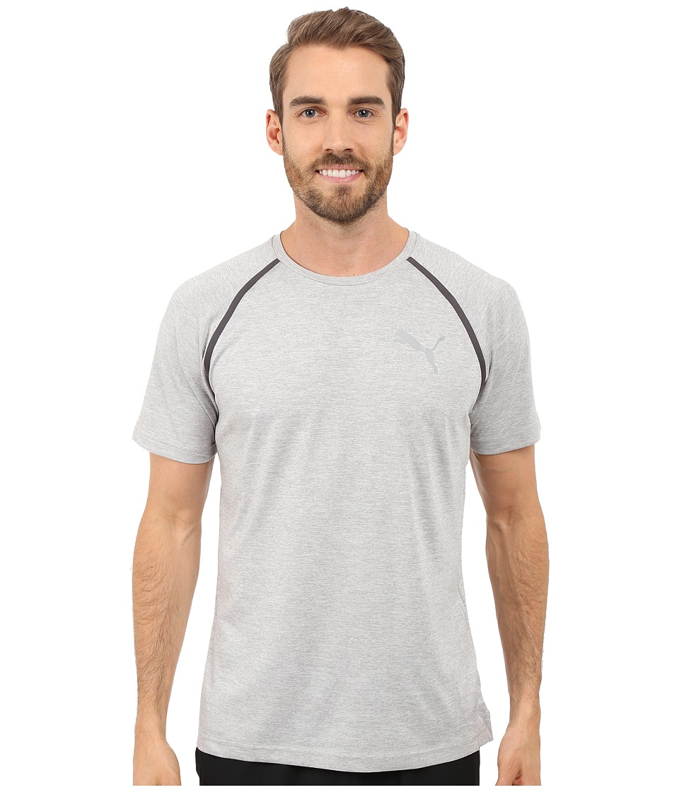 PUMA Bonded Tech Short Sleeve Tee (Light Gray Heather) Men