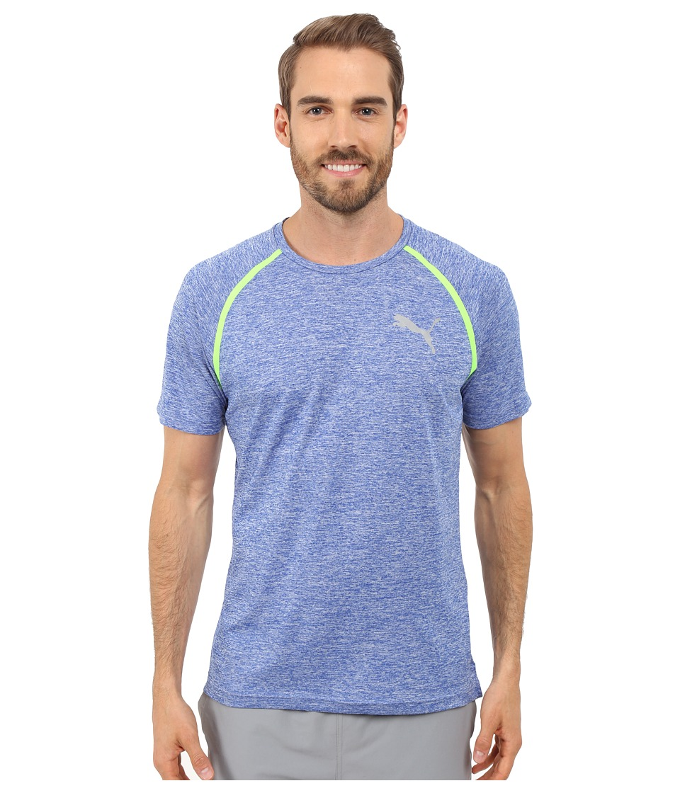 PUMA - Bonded Tech Short Sleeve Tee (Surf the Web Heather) Men's T Shirt