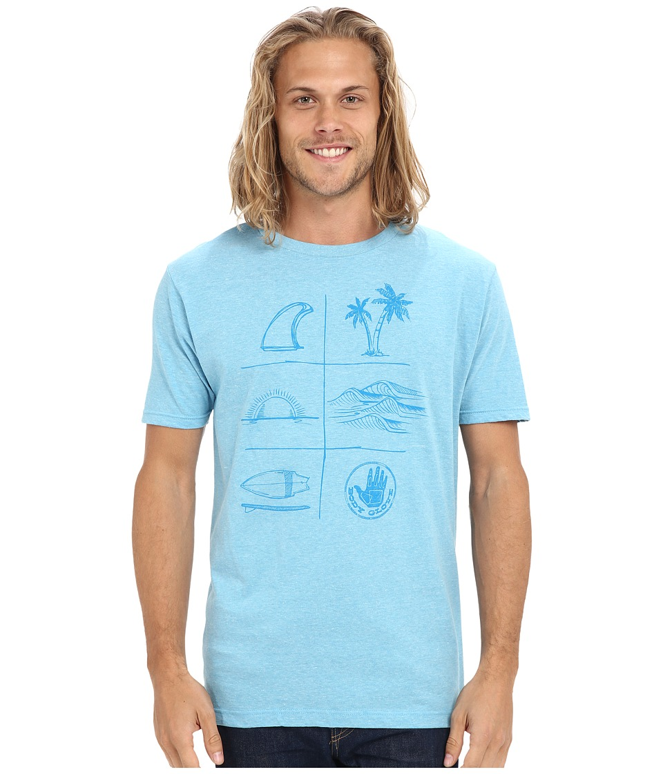 Body Glove - 47137/46-Summer Daze Tee (Light Blue Heather) Men's T Shirt