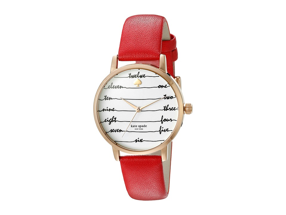 Kate Spade New York - Metro - KSW1061 (Red/Gold) Watches