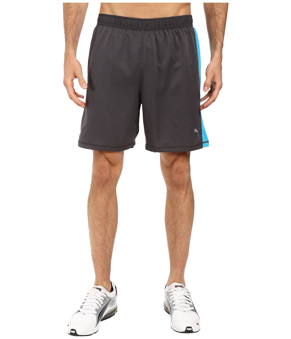 PUMA - PE Running 7 Shorts (Asphalt/Atomic Blue) Men's Shorts
