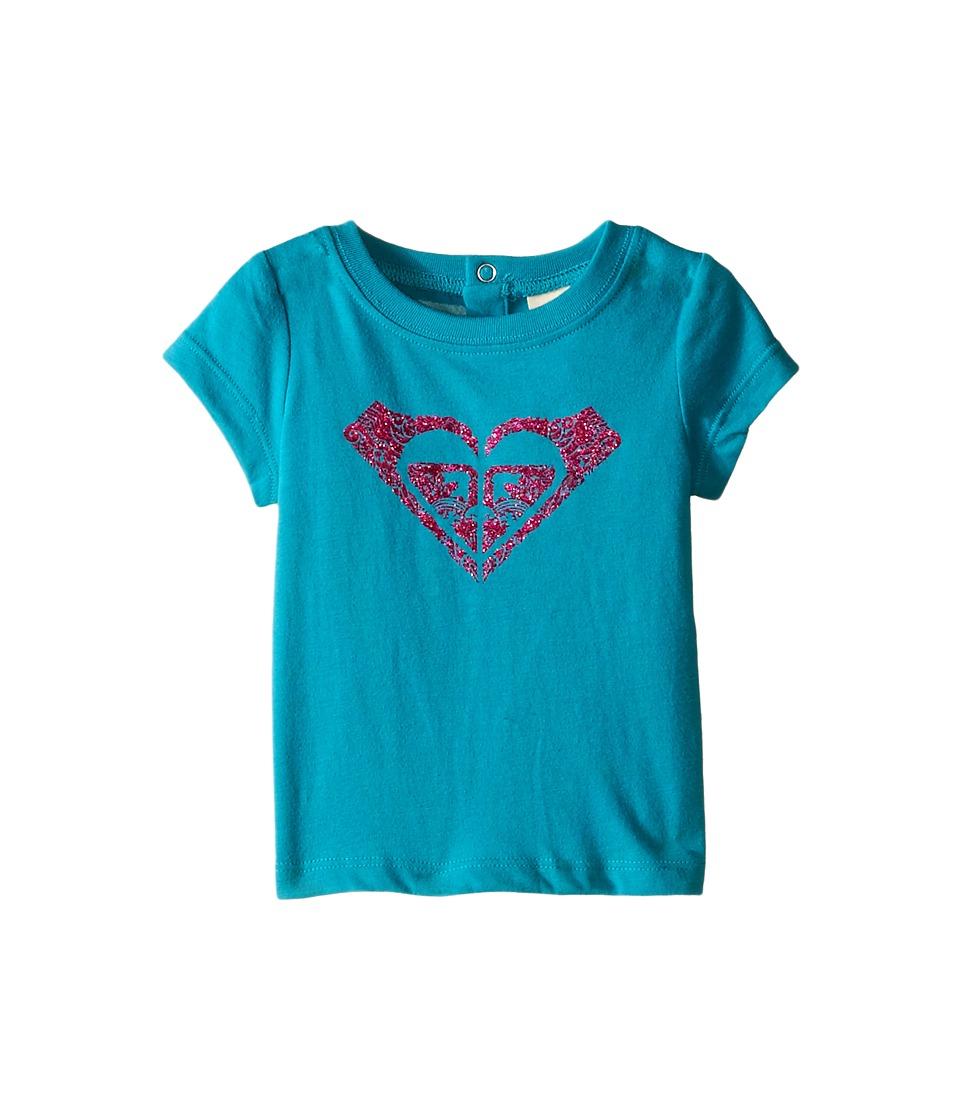 Roxy Kids - Swirl Tee (Infant) (Lake Blue) Girl's T Shirt