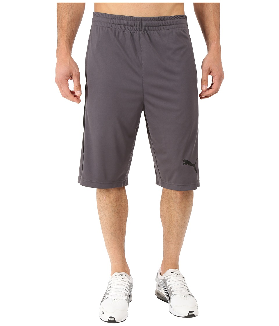 PUMA - Mixed Material Shorts (Asphalt/Black) Men's Shorts