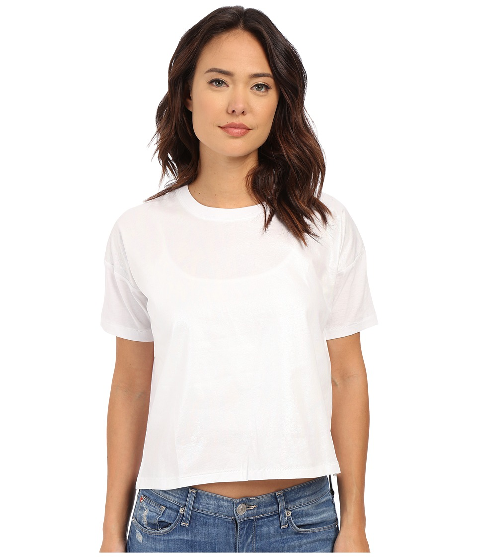 Converse - Coated Oil Slick Swing Tee (White) Women's T Shirt
