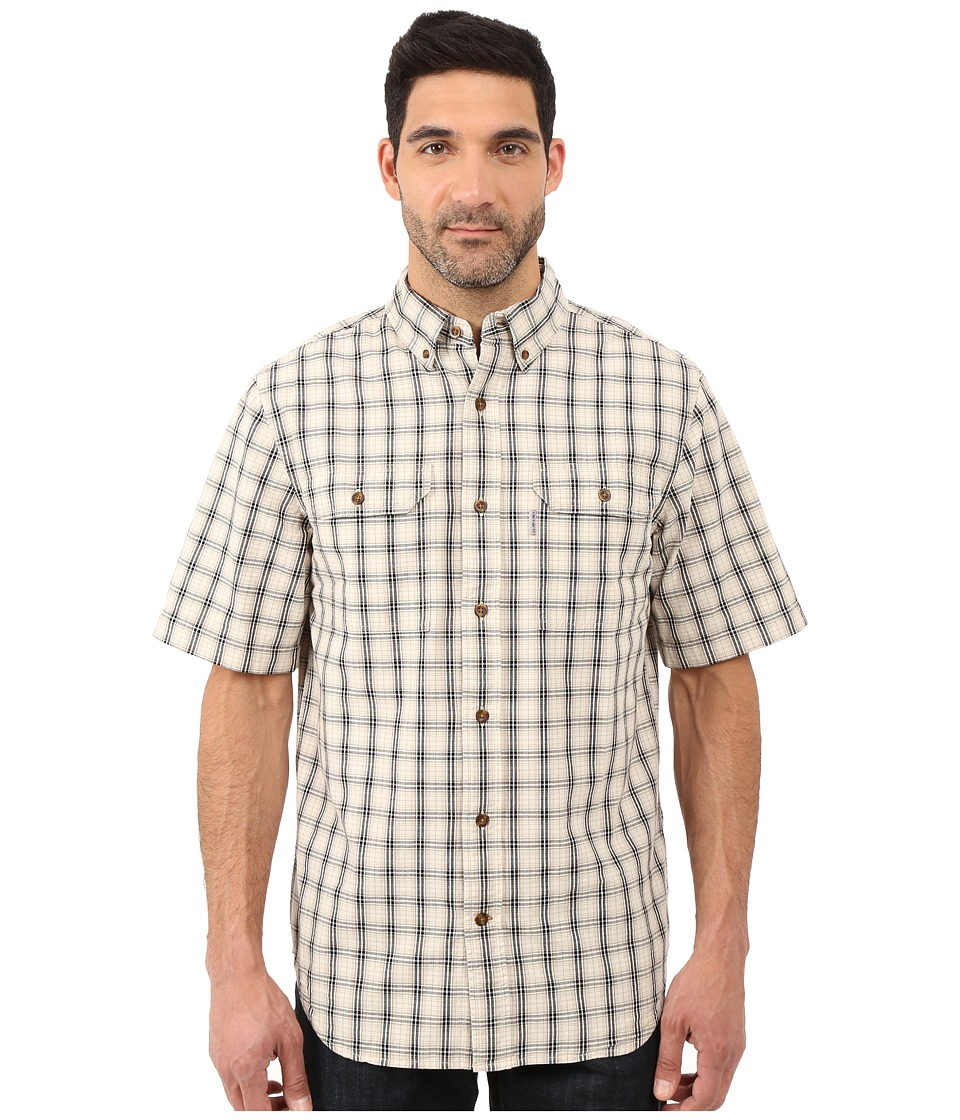 Carhartt - Fort Plaid Short Sleeve Shirt (Natural) Men's Clothing