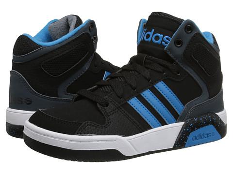 adidas Kids - BB9TIS Mid (Little Kid/Big Kid) (Black/Solar Blue/Onix) Boys Shoes