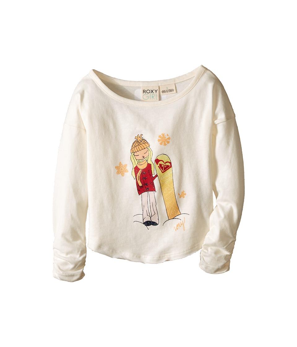 Roxy Kids - Boarder Long Sleeve Tee (Toddler/Little Kids) (Sea Spray) Girl's T Shirt