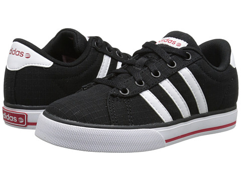 adidas Kids - SE Daily Vulc (Little Kid/Big Kid) (Black/White/Power Red) Kids Shoes