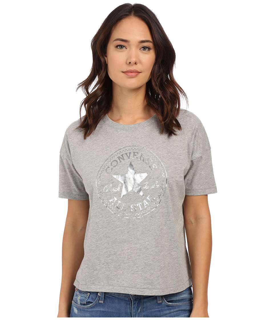 Converse - Oil Slick CP Swing Tee (Vintage Grey Heather) Women's Short Sleeve Pullover