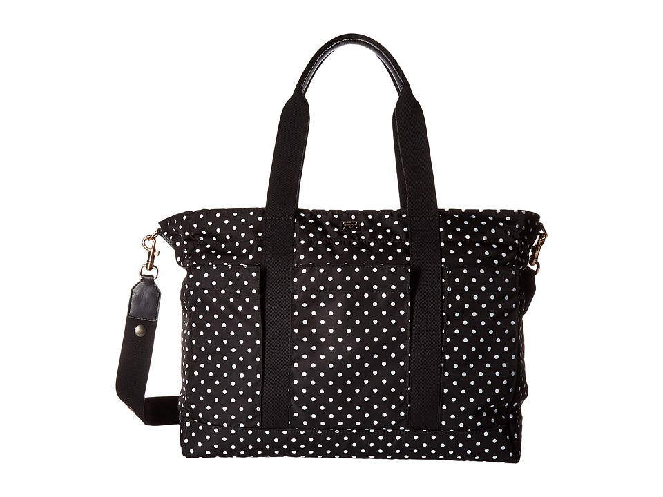 Dolce & Gabbana Kids - Polka Dot Diaper Bag (Little Kids/Big Kids) (Black/White) Diaper Bags