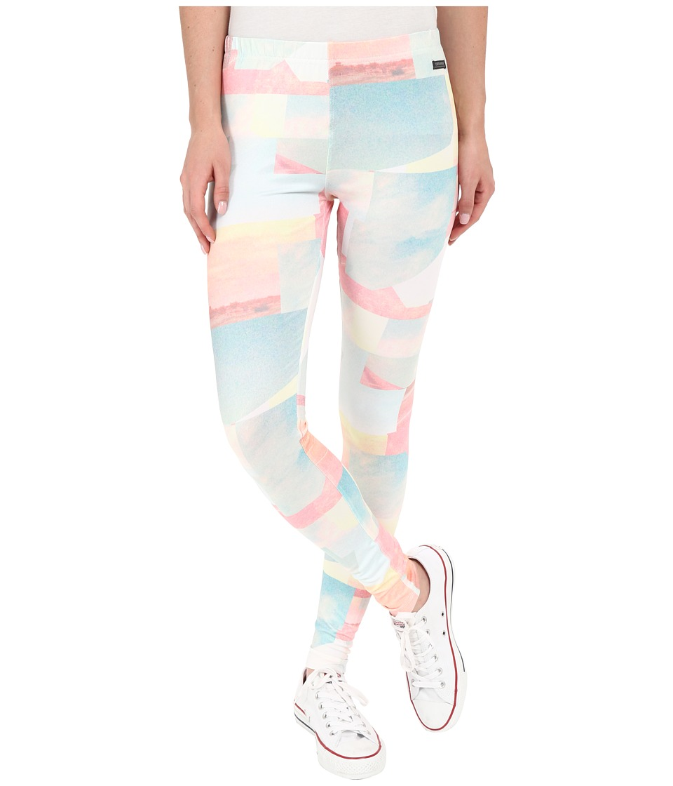 Converse - Highway Print Poly Leggings (Multi) Women's Casual Pants