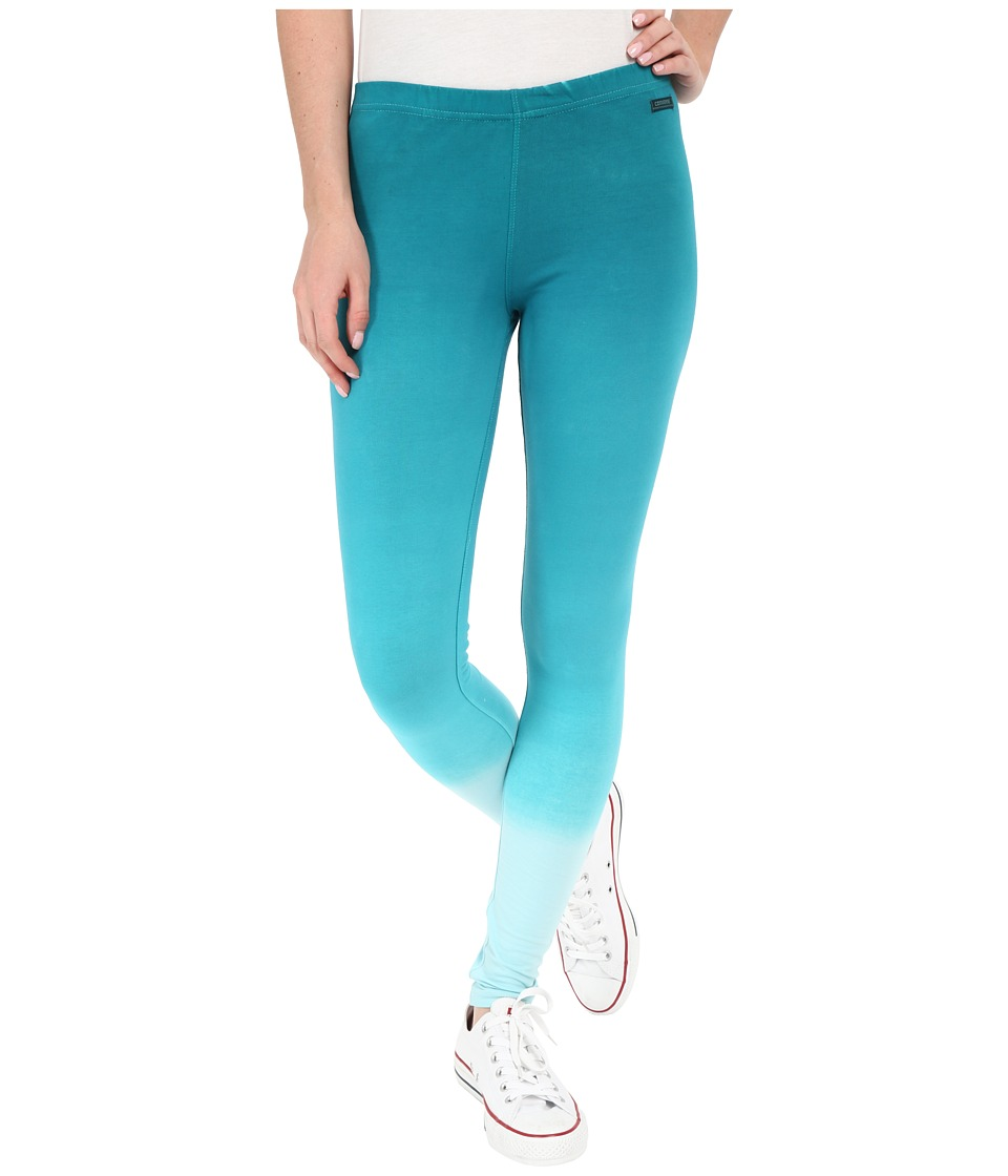 Converse - Dip Dye Cotton Leggings (Pool Blue) Women's Casual Pants