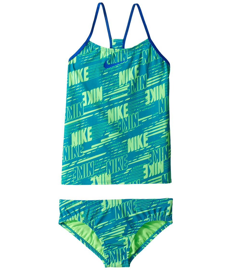 Nike Kids Racerback Tankini (Big Kids) (Energy) Girl