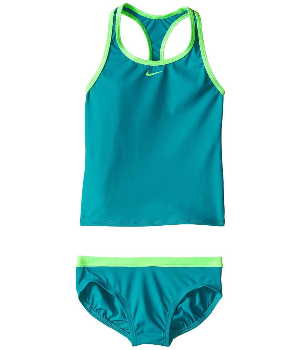 Nike Kids Solid Racerback Tankini (Big Kids) (Energy) Girl