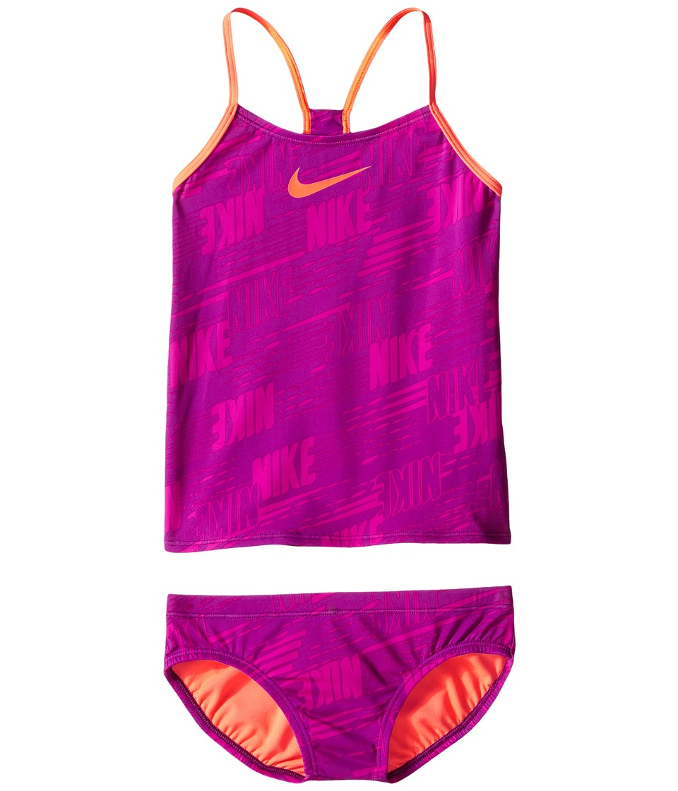 Nike Kids Racerback Tankini (Big Kids) (Cosmic Purple) Girl