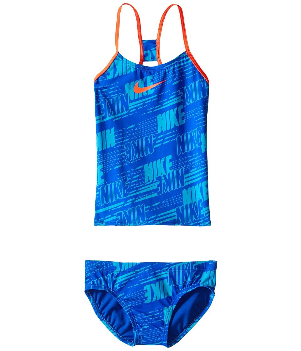 Nike Kids Racerback Tankini (Big Kids) (Hyper Cobalt) Girl