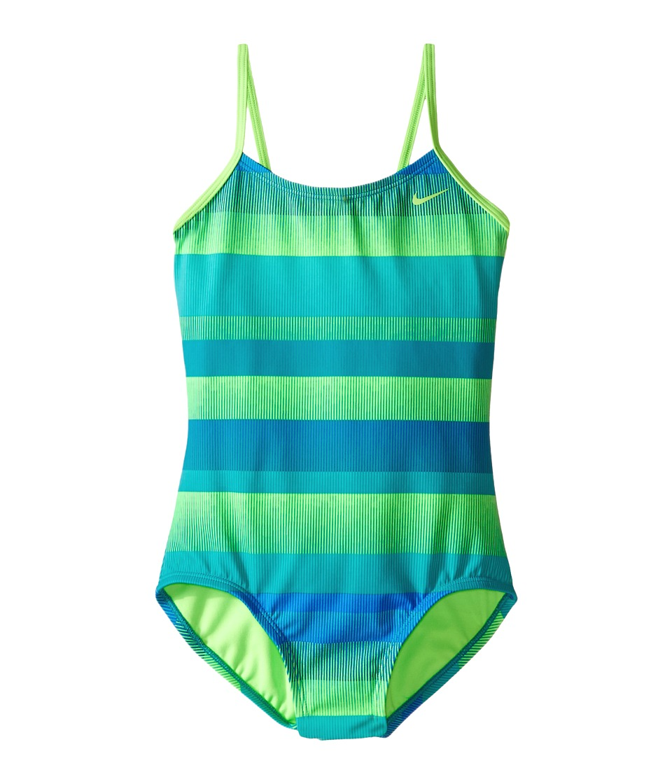 Nike Kids - Optic Shift V-Back Tank Top (Big Kids) (Energy) Girl's Swimwear