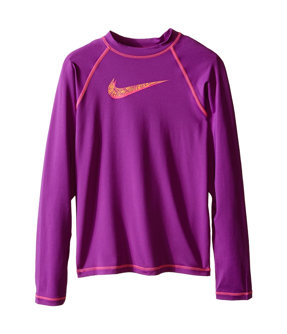 Nike Kids - Hydro UV Long Sleeve Swim Shirt (Big Kids) (Cosmic Purple) Girl's Swimwear
