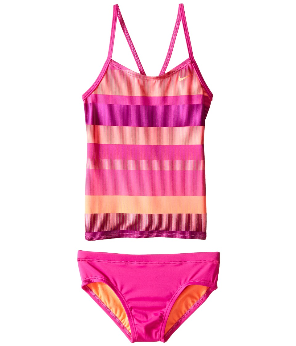Nike Kids - Optic Shift V-Back Tankini (Big Kids) (Fire Pink) Girl's Swimwear