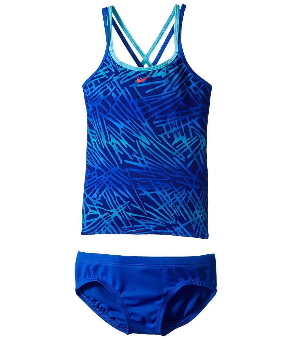 Nike Kids - Flux Spiderback Tankini (Big Kids) (Hyper Cobalt) Girl's Swimwear