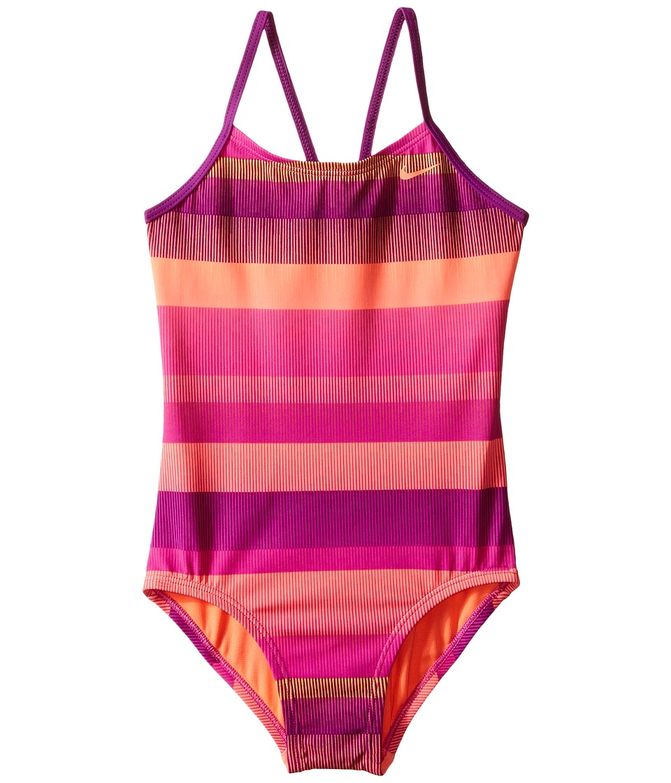Nike Kids - Optic Shift V-Back Tank Top (Big Kids) (Fire Pink) Girl's Swimwear