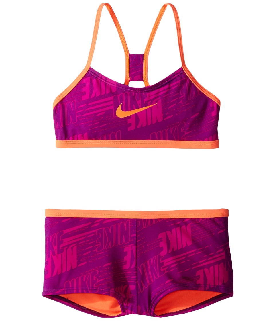 Nike Kids Racerback Bikini (Big Kids) (Cosmic Purple) Girl