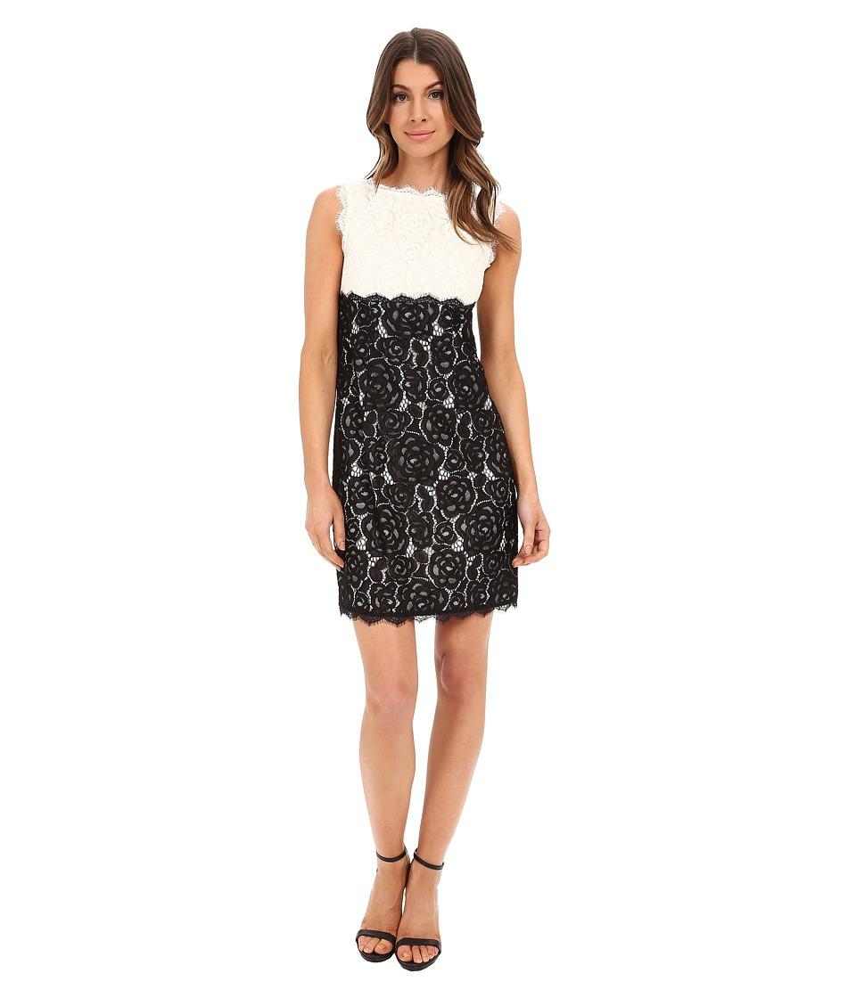 Adrianna Papell - Aline Empire Waist Shift Dress (Ivory/Black) Women's Dress
