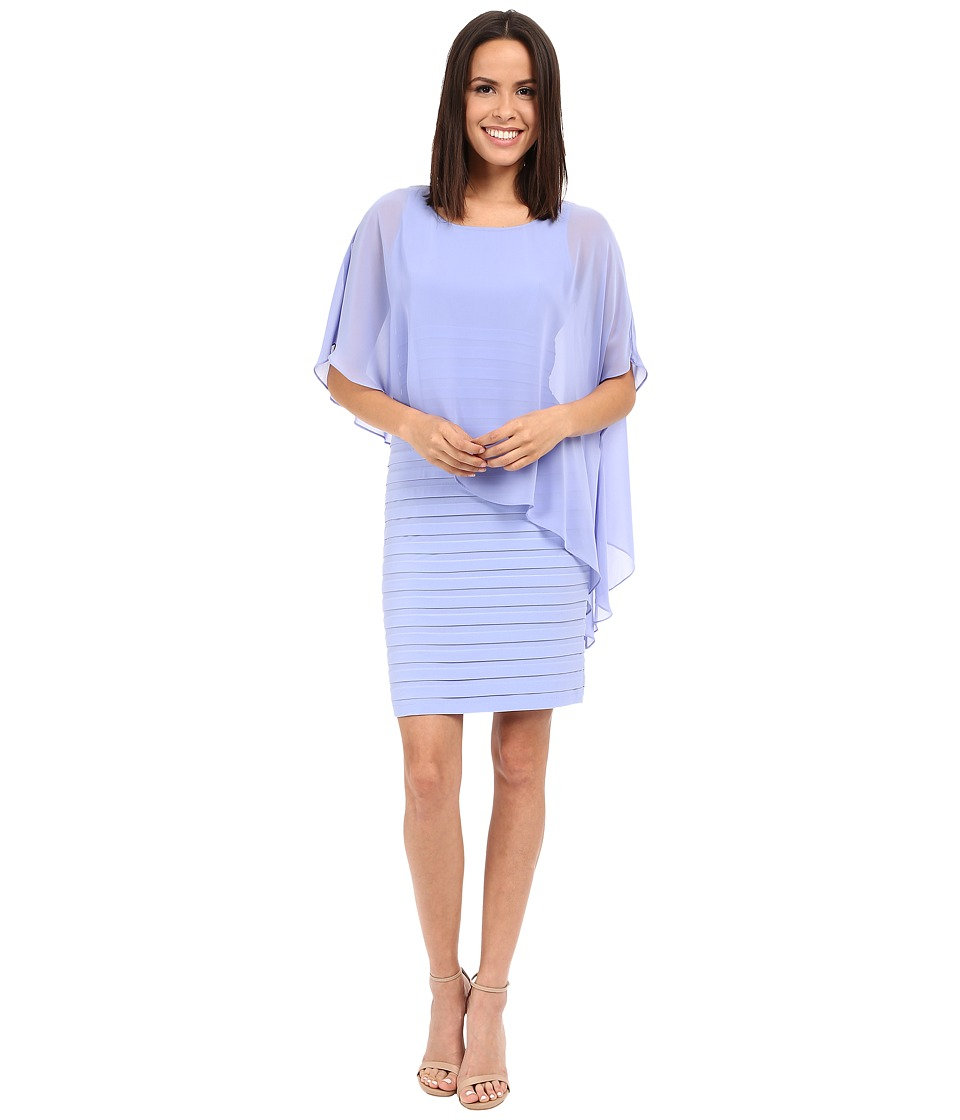 Adrianna Papell - Chiffon Drape Overlay With Banding (Wisteria) Women's Dress